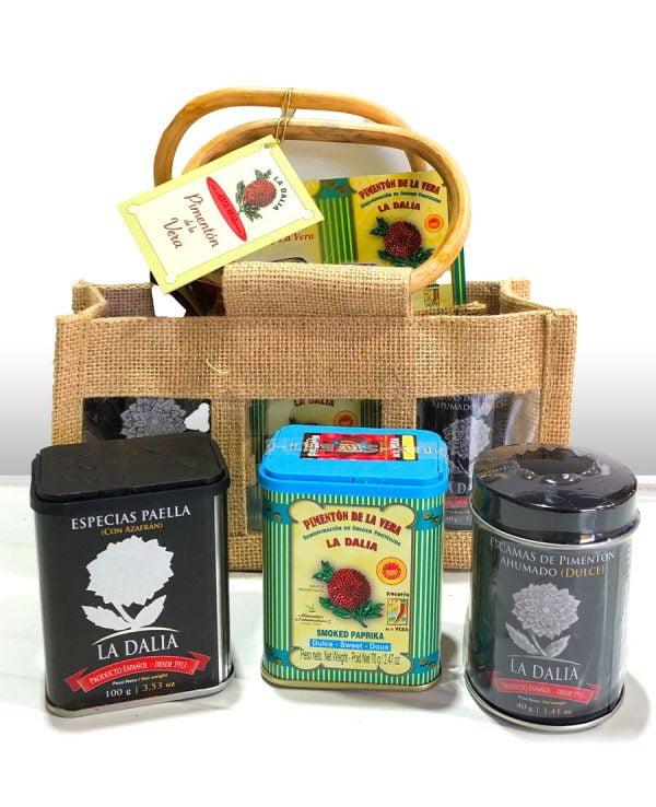 cesta regalo gourmet 3 especialidades